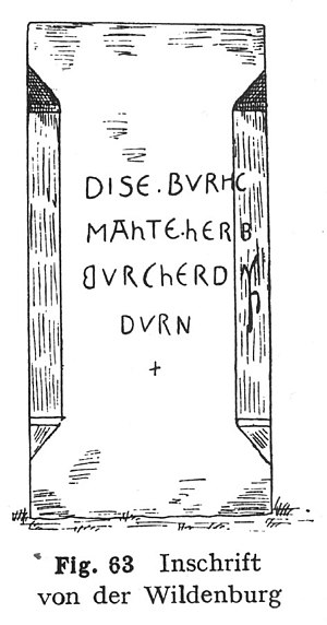 Wildenberg Castle (Kirchzell) - Inscription naming the lords who had the castle built
