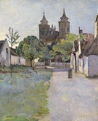 Wilhelm Bernatzik - Image: Wilhelm Bernatzik Blick auf einen Kirchenvorplatz