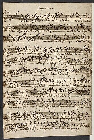 Wilhelm Friedemann Bach - Image: Wilhelm Friedemann Bach Der Trost gehöret British Library Add MS 50115 f 1v