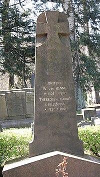 Wilhelm von Hanno, arkitekt, gravminne på Vår Frelsers gravlund, Oslo, DSC 2205.jpg