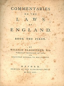 Commentaries on the Laws of England - Wikipedia