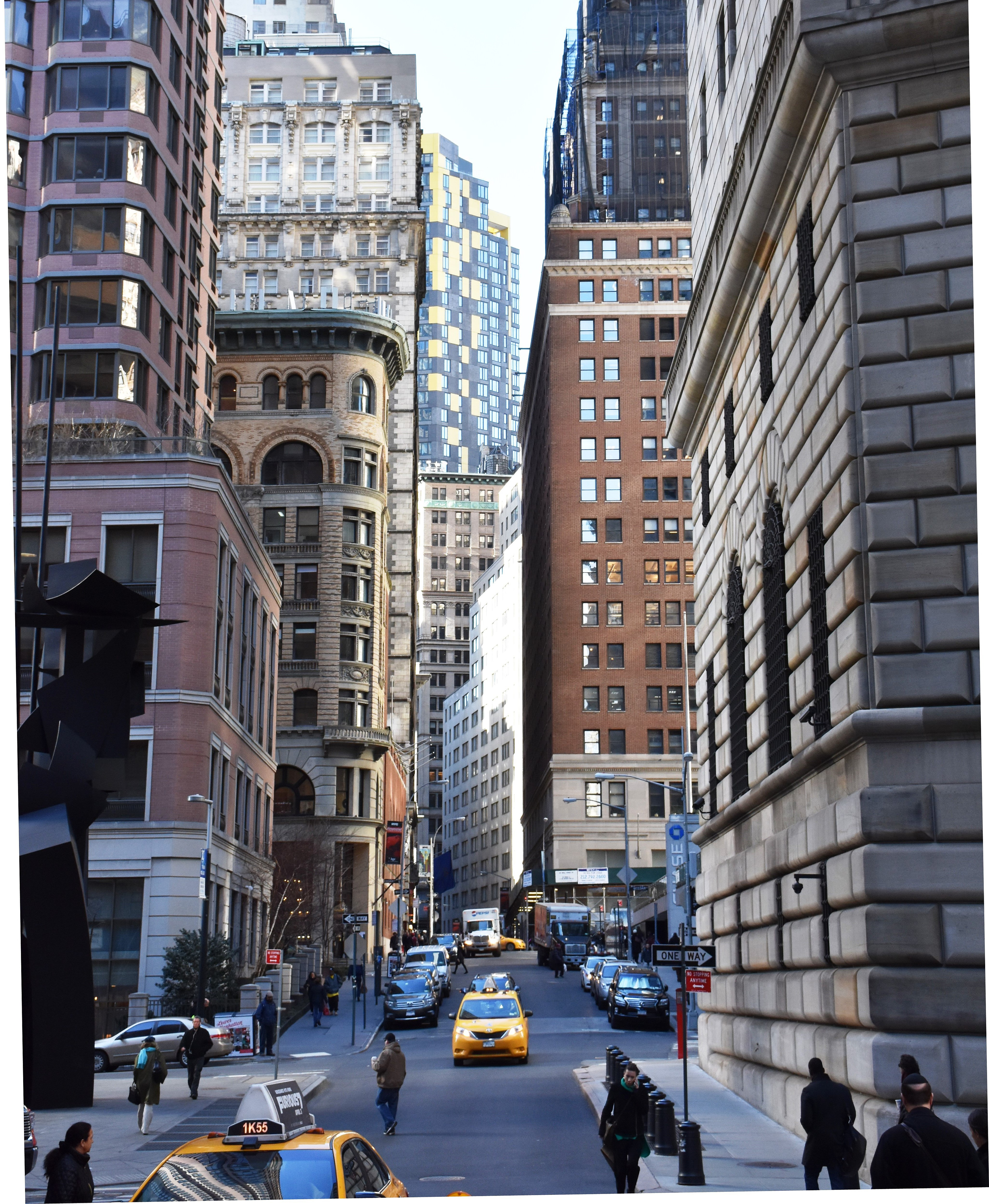 From New York City: File:William Street, Financial District, New York City 5