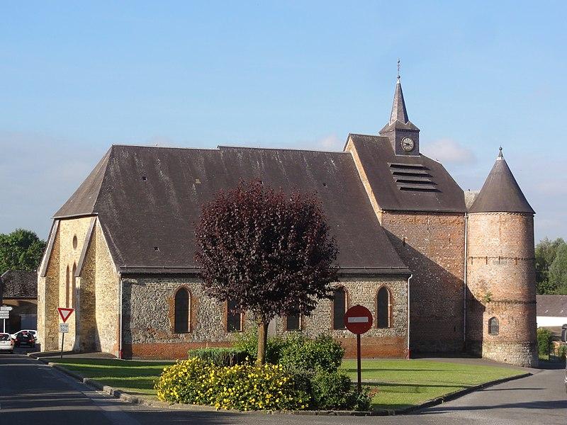 Wimy (Aisne) église fortifiée