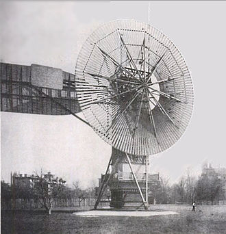 Wind power - Charles Brush's windmill of 1888, used for generating electric power.