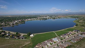 Windsor, Colorado - Windsor Lake facing West
