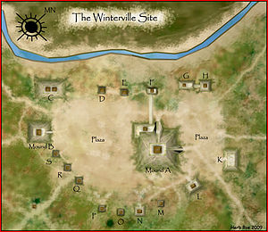 Winterville Site - Illustrated aerial view of the Winterville Site
