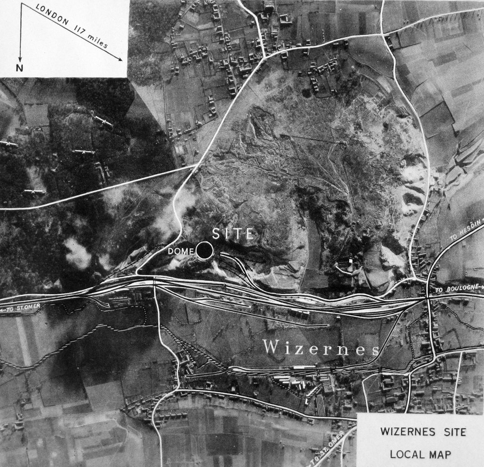 Wizernes site local map