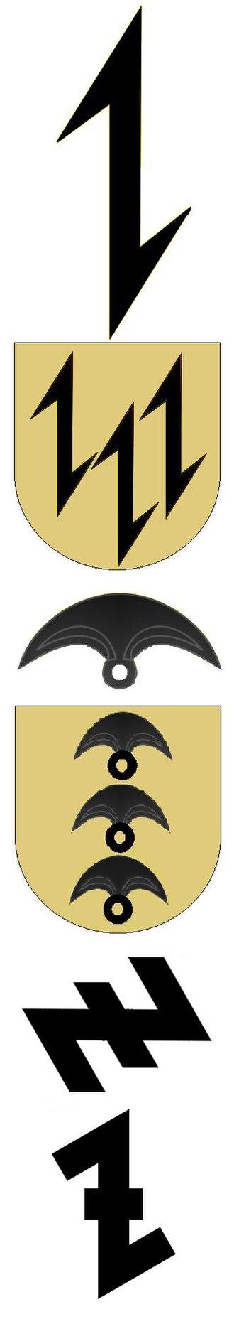 Wolfsangel - German designs known as Wolfsangel