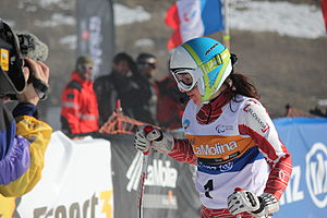 Para-alpine skiing classification - Henrieta Farkasova from Slovakia at the 2013 IPC Alpine World Championships in La Molina, Spain