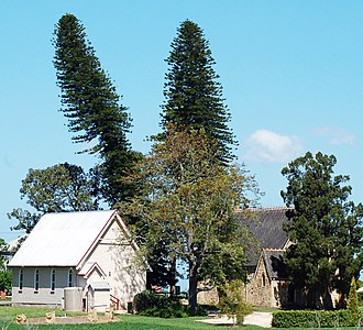 Woodville, New South Wales - Image: Woodville Church And Hall