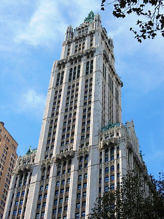 K-25 - The Woolworth Building in Manhattan housed the offices of the Kellex Corporation and the Manhattan District's New York Area
