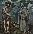 Workshop of El Greco - Saint John the Baptist and Saint Francis of Assisi - Google Art Project.jpg