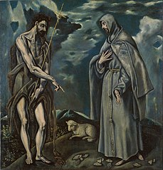 Saint John the Baptist and Saint Francis of Assisi