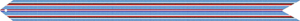 A mostly blue and red streamer, awarded to those who served in the American theater.
