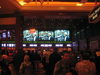 Sports betting - Sportsbook at Wynn Las Vegas, during Super Bowl XLII, February 2008