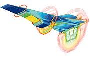 X-43A (Hyper - X) Mach 7 computational fluid dynamic (CFD)