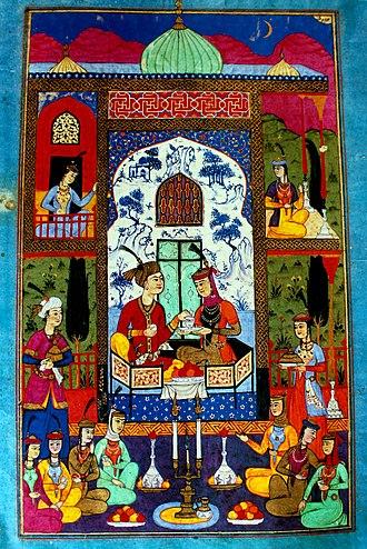 Harem - Khosrow and Shirin (Bukhara, 1648)