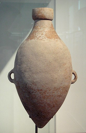 Entheogenic use of cannabis - Yangshao culture (ca. 4800 BCE) amphora with hemp cord design