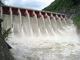 Yasuoka Dam Dam in Nagano Prefecture, Japan