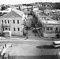 Yehuda Aizenshtark. Jaffa gate from Barclay's bank. Jerusalem. 1965.jpg