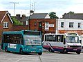 Yeovil Bus Station - Damory 5602 (R602NFX) and First 51212 (L652CJT).jpg