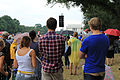 Young people and Lincoln Memorial - 50th Anniversary of the Civil Rights March on Washington for Jobs and Freedom.jpg