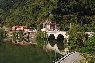 Zidani Most - Image: Zidani most most in žel. postaja 2