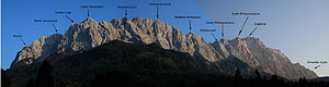 Wetterstein - The Zugspitze, Riffelwandkamm and Waxensteinkamm