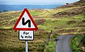 """""""Double bend"""" sign near Finnis - geograph.org.uk - 1997123.jpg"""