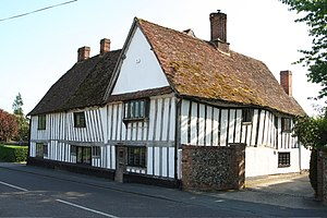 Ickleton - The Hovells, a 16th-century former manor house that was the seat of one of Ickleton's lesser estates