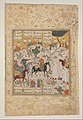 """Meeting of Bahram Gur with a Princess"", Folio from a Shahnama (Book of Kings) MET DP215763.jpg"