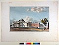 """""""St. Louis Court House"""" Lithographed and Published By J. C. Wild At The Missouri Republican, 1840.jpg"""