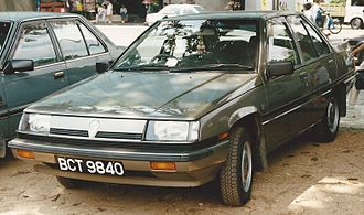 PROTON Holdings - The first generation Proton Saga. More than 1.2 million units were sold between 1985 and 2008.