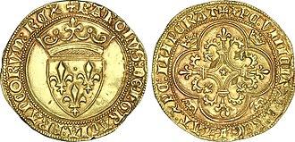 Écu - écu à la couronne of Charles VI