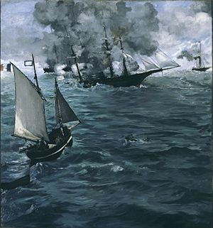 CSS Alabama - The Battle of the Kearsarge and the Alabama by Édouard Manet