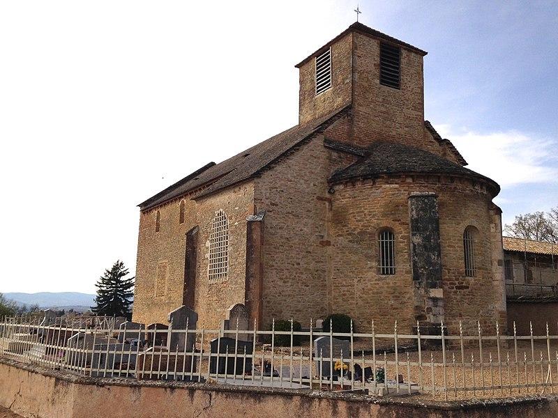 Église romane retable doré du village de Bey