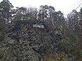 Údolí Kocáby, Dashwood na skále (01).jpg