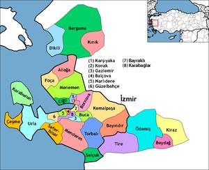 Alaçatı - Image: İzmir districts