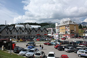 Žabljak - Main square of Žabljak