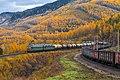 Грузовые поезда на Транссибе. Электровоз ВЛ85-230. Перегон Утулик - Слюдянка-I.jpg