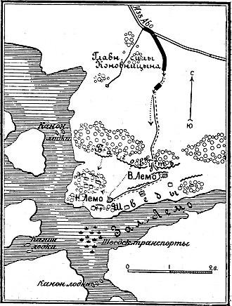 Battle of Lemo - Battle field from Russian gun positions