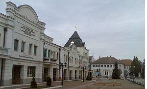 Kać - Town center with Svetosavski dom