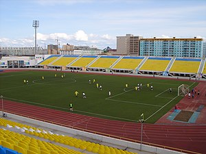 FC Yakutiya Yakutsk - A football match taking place at FC Yakutia's Tuymaada Stadium in 2007.