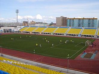 FC Yakutiya Yakutsk - A football match taking place at FC Yakutia's Tuymaada Stadium in 2007.