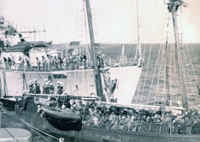 האונייה אורד וינגייט בנמל חיפה לאחר לכידתה, 1946