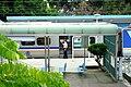 崎頂車站 EMU728列車長出發進行 20160827.jpg