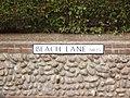 -2019-11-25 Street name sign, Beach Lane, Weybourne.JPG