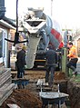 -2021-01-08 Men pouring concrete footings, Trimingham, Norfolk.JPG