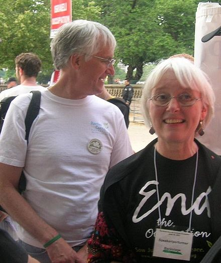 "Craig and Cindy Corrie at an ""End the Occupation"" rally, 2007 06-10-07-Cindy-Craig-Corrie.JPG"