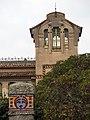079 Casa Barbey, torre, façana del Passeig (la Garriga).JPG